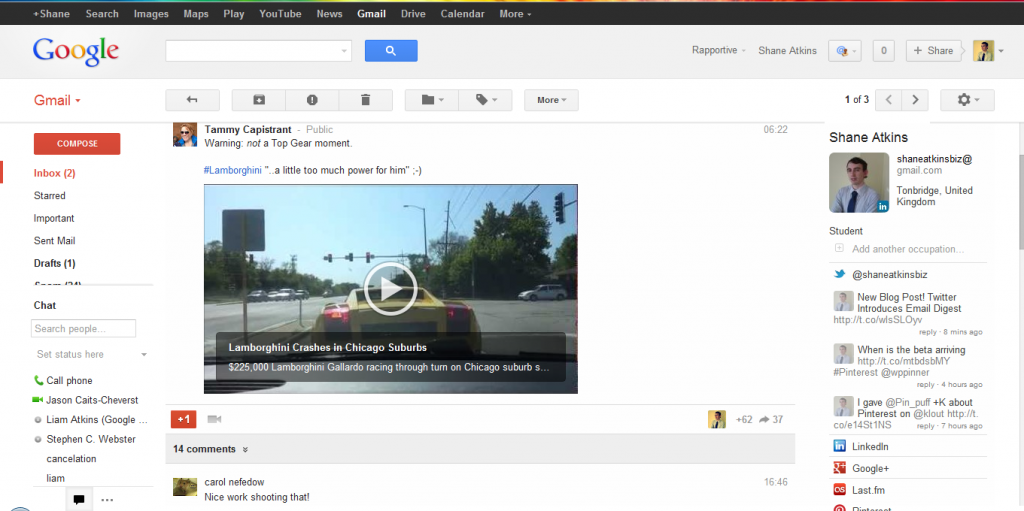 Google+ posts in your Gmail Google+ posts in your Gmail Gmail with Google