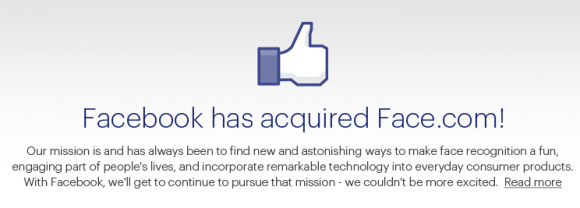 Facebook buys Face.com for $100m/£63.8m Facebook buys Face.com for $100m/£63.8m Facebook buy Face