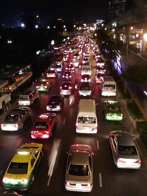 Traffic at night time