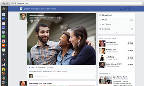 Facebook overhauls news feed to give more space to music, games and ads